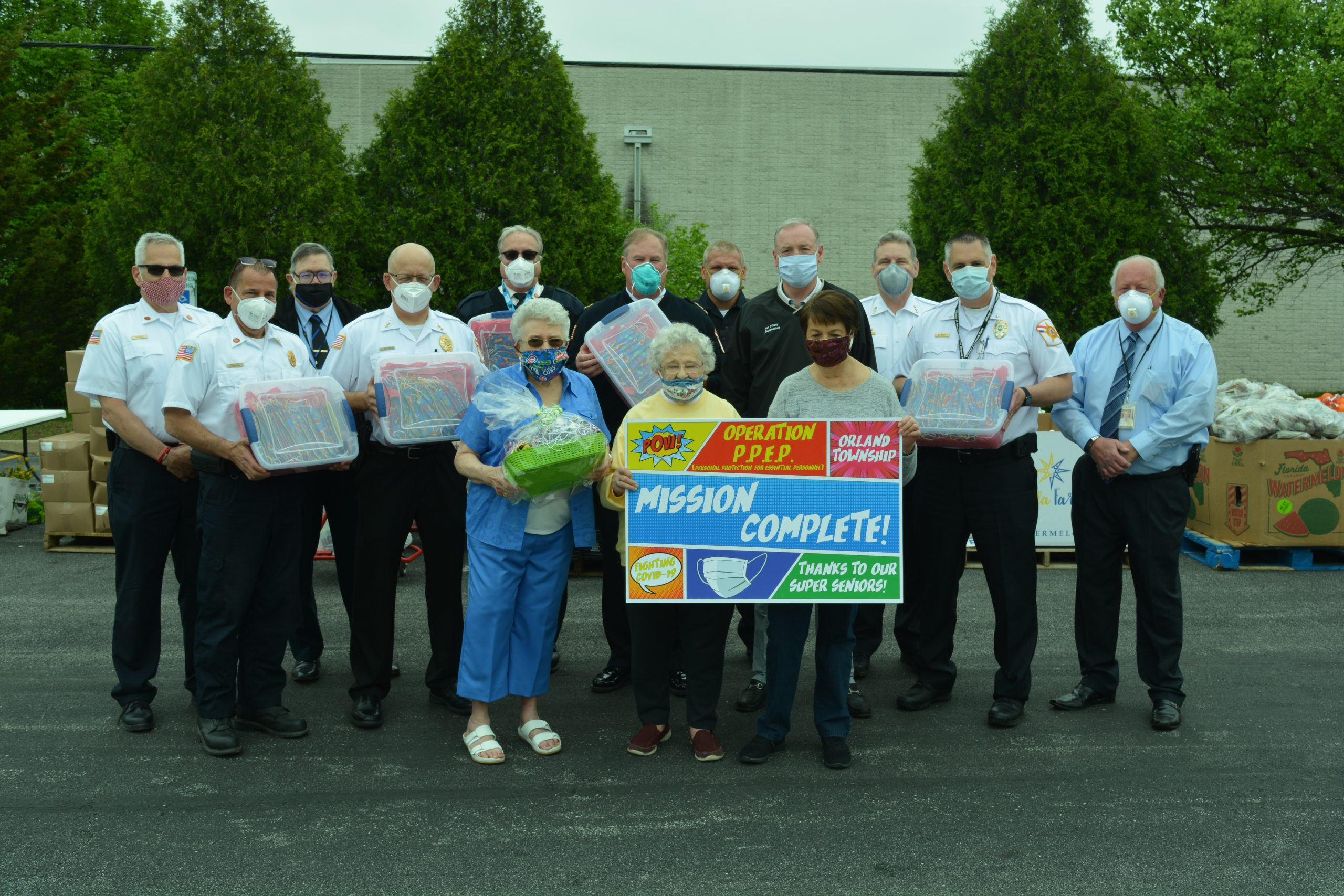 Township Distributes Masks to Local First Responders