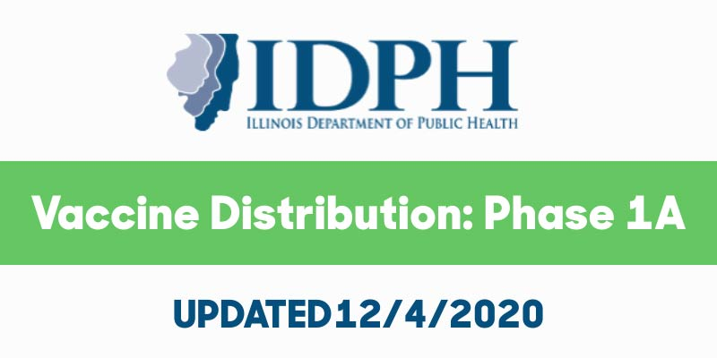 IDPH Vaccine Distribution Phase 1A UPDATE 12-4-2020