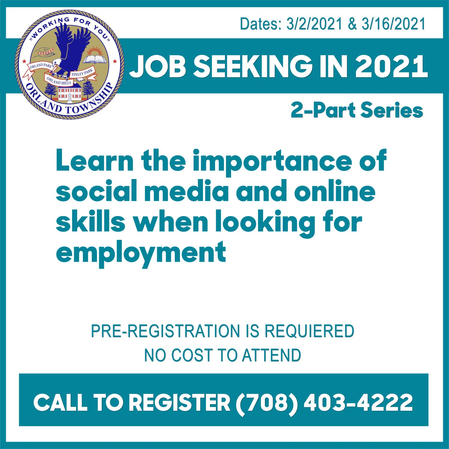 Orland Township Job Seeking Seminar square