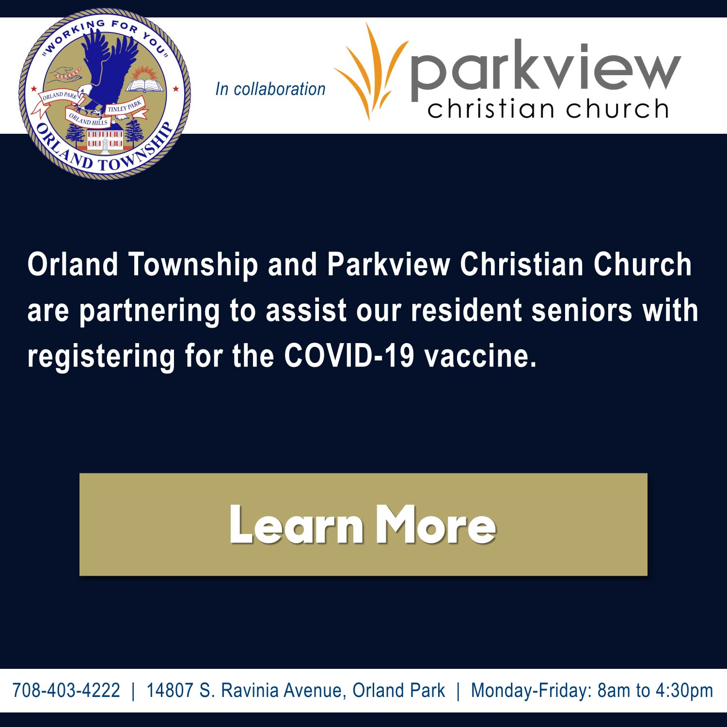 Orland Township and Parkview Christian Church